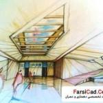 دانشکده معماری - اسکیس و راندو 6