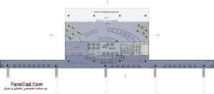 پلان طبقه دوم: سالن ترانزیت پروازهای خروجی و فضاهای تفریحاتی و خرید