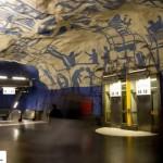 تصاویر ایستگاه متروی شگفت انگیز استکهلم سوئد ( ترکیب هنر و معماری ) 4