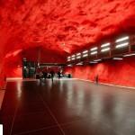تصاویر ایستگاه متروی شگفت انگیز استکهلم سوئد ( ترکیب هنر و معماری ) 5