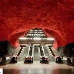 تصاویر ایستگاه متروی شگفت انگیز استکهلم سوئد ( ترکیب هنر و معماری ) 6