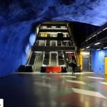 تصاویر ایستگاه متروی شگفت انگیز استکهلم سوئد ( ترکیب هنر و معماری ) 8