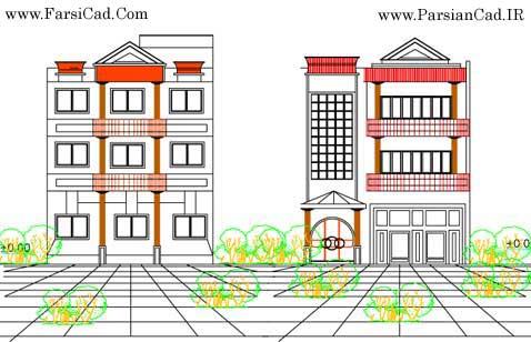 دانلود نقشه های ساختمان مسکونی 3 طبقه ( پلان ، نما ، برش ) - پرشین ...ولی برای اینبار نقشه های کامل معماری یک ساختمان ...