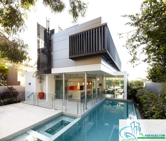 دانلود معماری - طرح ویلایی برگزیده با معماری گرم و مرطوب ...