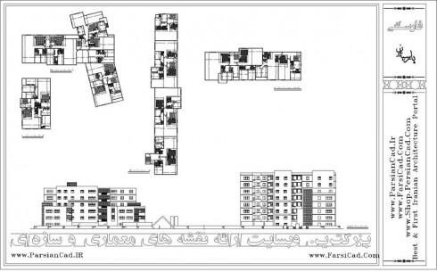 مجتمع مسکونی ، پلان مسکونی ، طرح 5 ، نقشه ، پلان