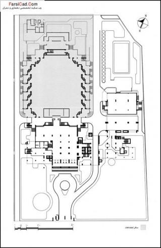 معماری ، ساختمان وزارت کشرر ، معماری ایرانی ، معماری معاصر، پلان
