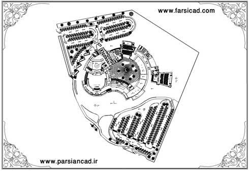 پلان فرهنگسرا - نقشه فرهنگ سرا - پلان - دانلود نقشه - معماری