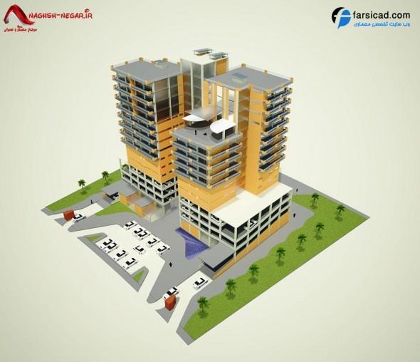پلان مجتمع مسکونی - نقشه مجتمع مسکونی - نقشه اتوکدی مجتمع مسکونی ، پلان اتوکدی مجتمع مسکونی ، سه بعدی مجتمع مسکونی ، نقشه آپارتمان ، نقشه برج ، پلان برج ، پلان آپارتمان