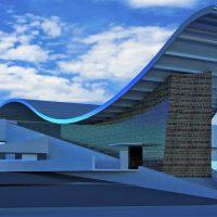 سه بعدی - سه بعدی موزه - طراحی داخلی موزه - نمای موزه - کانسپت برای موزه - کانسپت برای فرهنگ سرا