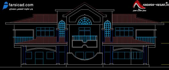 نقشه ویلا - نمای ویلایی - پلان ویلا - نقشه معماری
