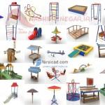 مدل های سه بعدی اسباب بازی - پارک - مهدکودک