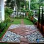مجموعه 101 عکس محوطه سازی ویلایی و مسکونی ( حیاط ) - طراحی محوطه آلاچیق ، استخر ، سنگ فرش و ... 11
