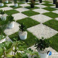 مجموعه 101 عکس محوطه سازی ویلایی و مسکونی ( حیاط ) - طراحی محوطه آلاچیق ، استخر ، سنگ فرش و ... 40