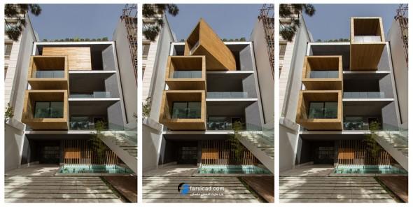 خانه شریفی ها ( ساختمان شریفی ها در تهران ) نمای ساختمان ، پلان ساختمان، پلان خانه، معماری
