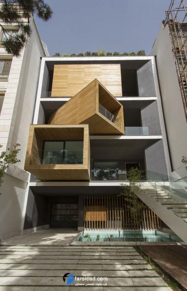 نمای ساختمان ایرانی ( معماری مدرن) - طراحی نما