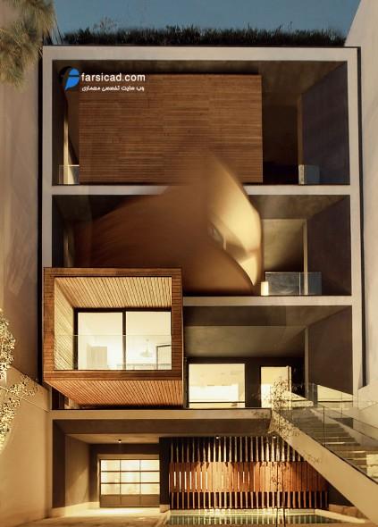 نمای متحرک - طرح نمای ساختمان