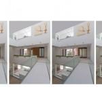 ساختمانی با نما و اتاق های متحرک در تهران ( خانه شریفی ها ) دانلود نقشه های معماری و تحلیل 17