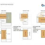 ساختمانی با نما و اتاق های متحرک در تهران ( خانه شریفی ها ) دانلود نقشه های معماری و تحلیل 27