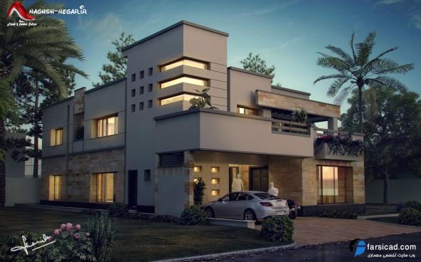 نمای ساختمانی - نمای ویلا - نمای ساختمان ویلایی - طرح نمای شیک و زیبا
