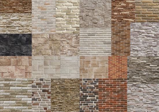 تکسچر سنگ و آجر ایرانی - متریال و تکسچر معماری