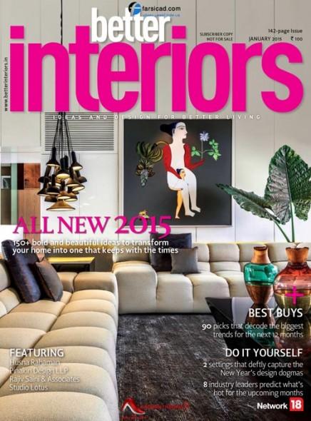 مجله دکوراسیون ، مجله طراحی داخلی - Better Interiors Magazine - January 2015