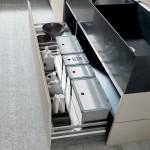 جدیدترین طرح های کابینت آشپزخانه ( ام دی اف و های گلاس ) - مدل کابینت MDF high Gloss 10
