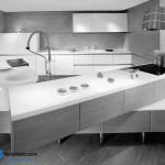 جدیدترین طرح های کابینت آشپزخانه ( ام دی اف و های گلاس ) - مدل کابینت MDF high Gloss 14