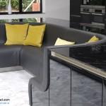 جدیدترین طرح های کابینت آشپزخانه ( ام دی اف و های گلاس ) - مدل کابینت MDF high Gloss 19