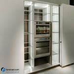 جدیدترین طرح های کابینت آشپزخانه ( ام دی اف و های گلاس ) - مدل کابینت MDF high Gloss 24