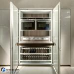 جدیدترین طرح های کابینت آشپزخانه ( ام دی اف و های گلاس ) - مدل کابینت MDF high Gloss 25
