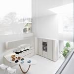 جدیدترین طرح های کابینت آشپزخانه ( ام دی اف و های گلاس ) - مدل کابینت MDF high Gloss 1