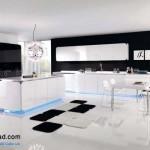 جدیدترین طرح های کابینت آشپزخانه ( ام دی اف و های گلاس ) - مدل کابینت MDF high Gloss 30