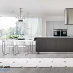 جدیدترین طرح های کابینت آشپزخانه ( ام دی اف و های گلاس ) - مدل کابینت MDF high Gloss 35