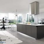 جدیدترین طرح های کابینت آشپزخانه ( ام دی اف و های گلاس ) - مدل کابینت MDF high Gloss 38