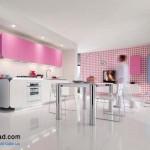 جدیدترین طرح های کابینت آشپزخانه ( ام دی اف و های گلاس ) - مدل کابینت MDF high Gloss 47