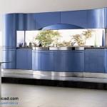 جدیدترین طرح های کابینت آشپزخانه ( ام دی اف و های گلاس ) - مدل کابینت MDF high Gloss 51