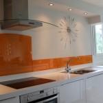جدیدترین طرح های کابینت آشپزخانه ( ام دی اف و های گلاس ) - مدل کابینت MDF high Gloss 55