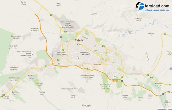 نقشه شهر تبریز - نقشه تبریز - نقشه اتوکدی تبریز - پلان اتوکدی شهر تبریز