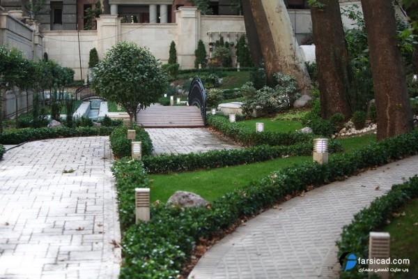 محوطه سازی - حیاط سازی - طراحی محوطه