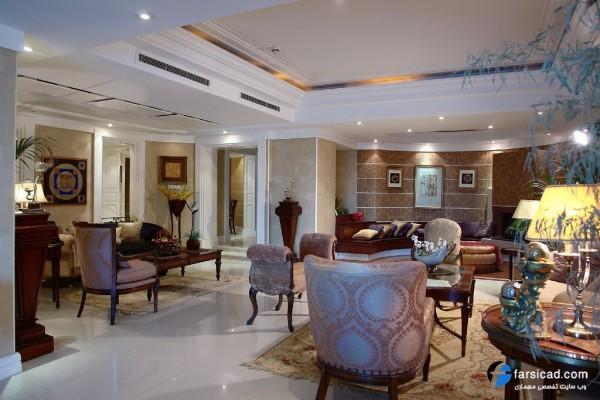 طراحی داخلی - دکوراسیون - نور مخفی - کناف