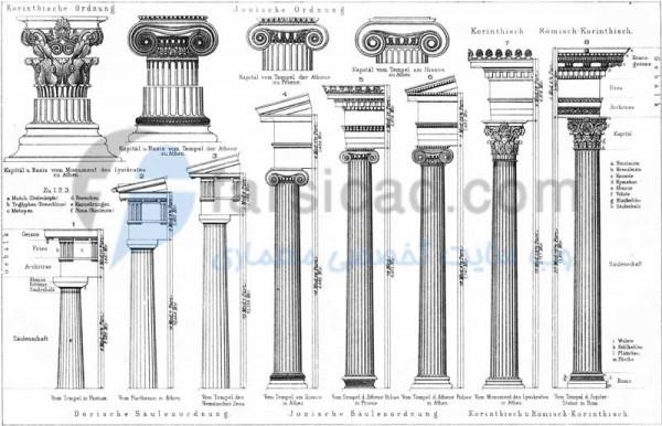 نمای کلاسیک - نمارومی - نما کلاسیک - ستون نمای رومی - نمای ساختمان - نمای ویلایی