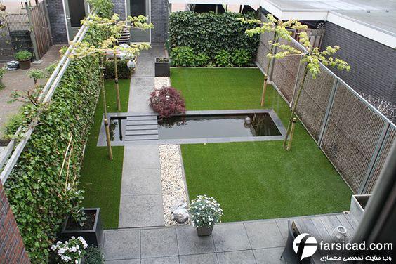 طرح حیاط منزل -طرح حیاط ویلا - طرح حیاط پویا - طرح حیاط سازی - طرح حیاط خانه - طرح حیاط ویلایی