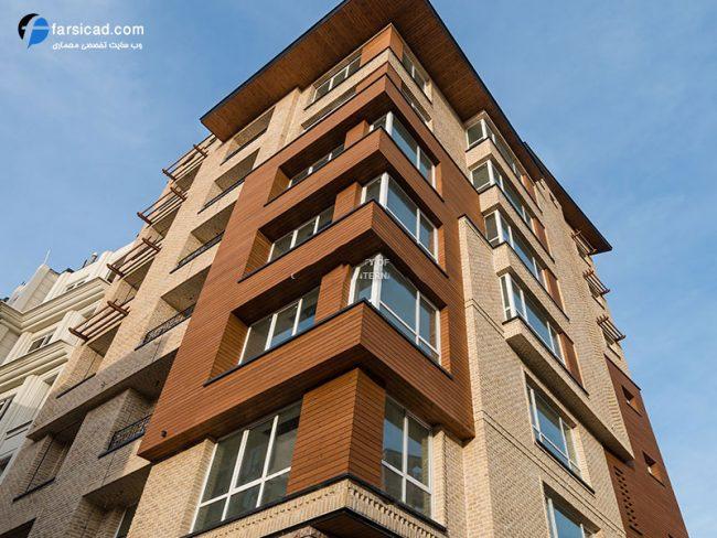 نما ترکیبی ساختمان - نما ترکیبی سنگ و آجر - نما ترکیبی آجر - طراحی نما ترکیبی -نما های ترکیبی ساختمان - آجرنما