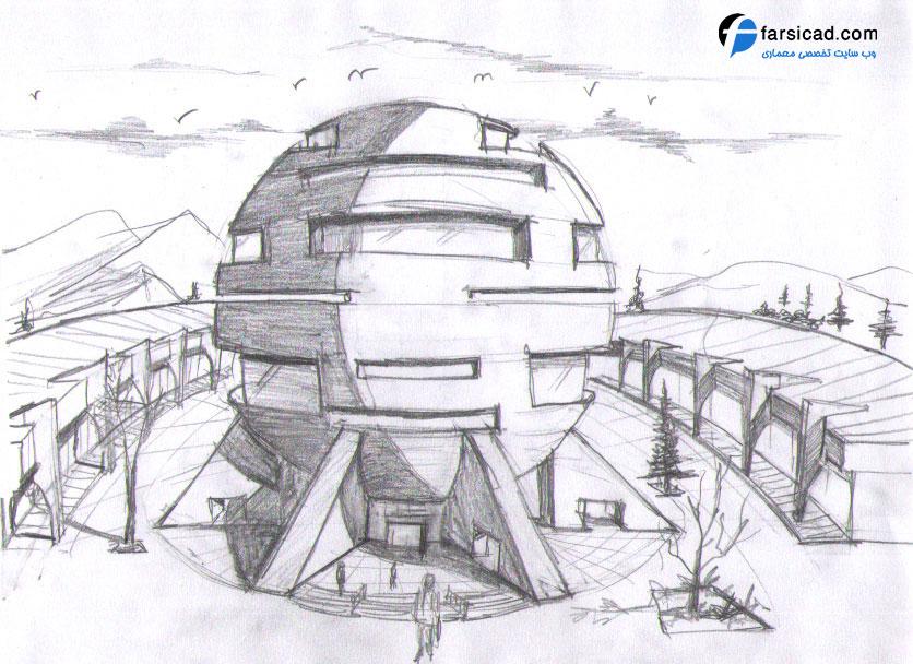 15 طرح برتر اسکیس و راندو ارشد معماری 2