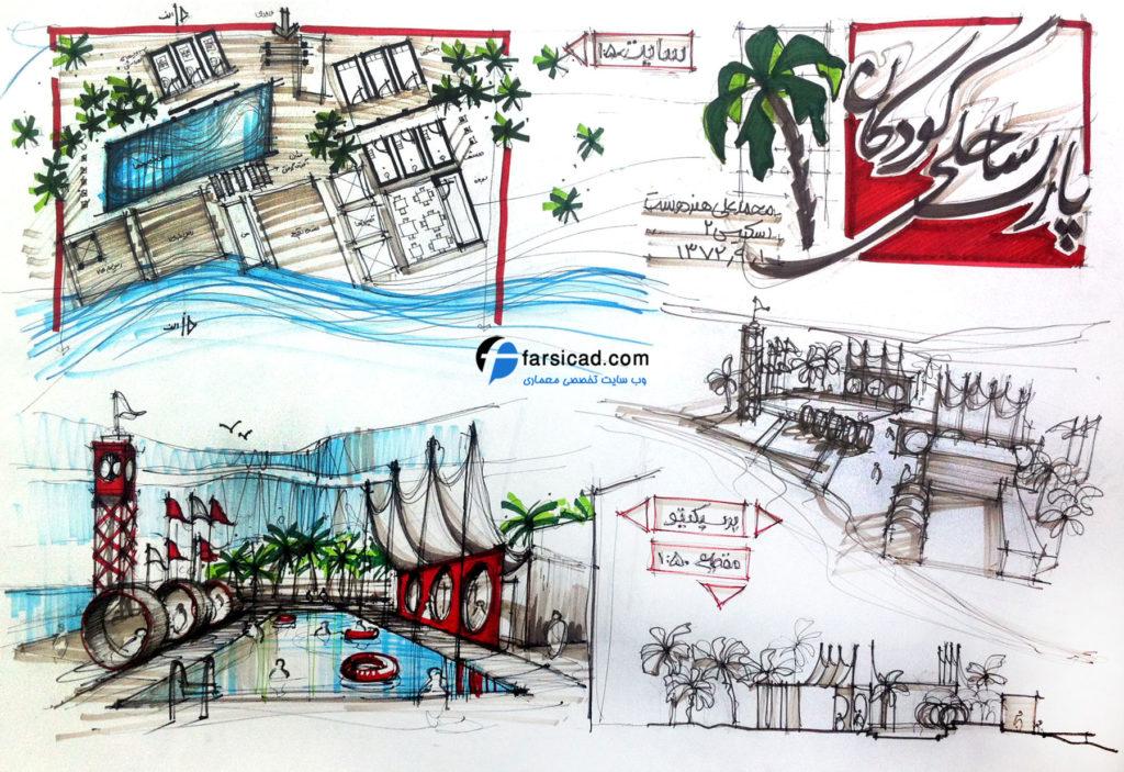 15 طرح برتر اسکیس و راندو ارشد معماری 4