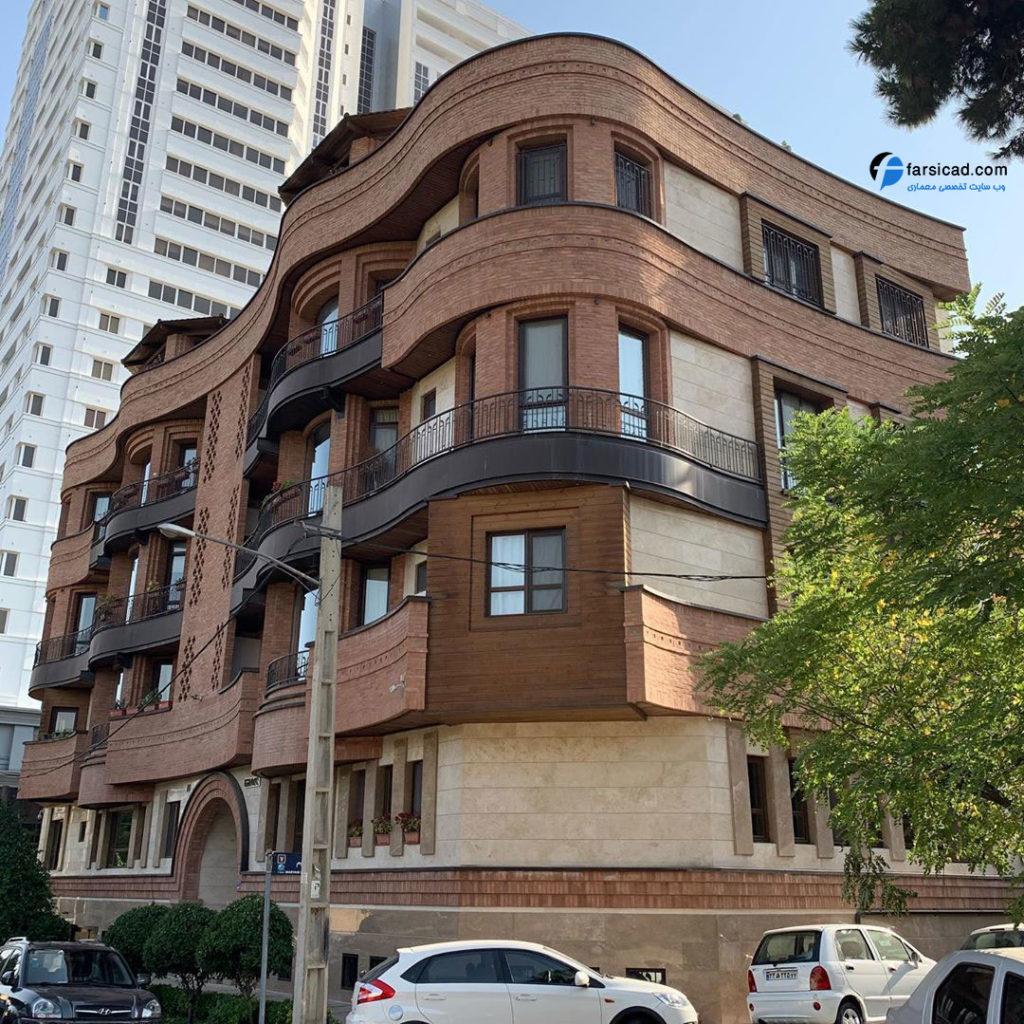 نمای سنگی - نمای ترکیبی - نمای ساختمان - نما ساختمان - نمای تجاری مسکونی - نقشه - پلان