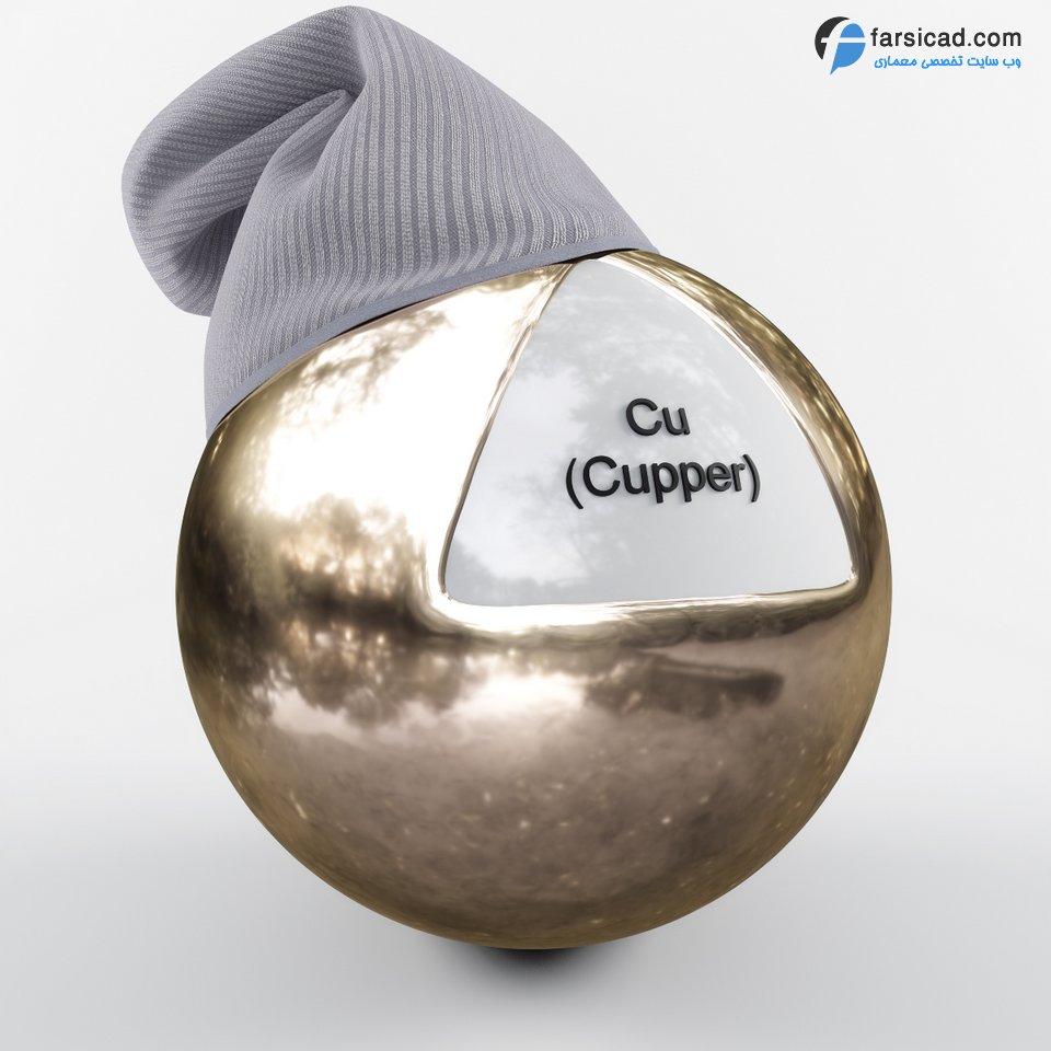 دانلود مجموعه فوق العاده متریال فلزات ( طلا ، نقره ، تیتانیوم ، آهن و ... ) 4