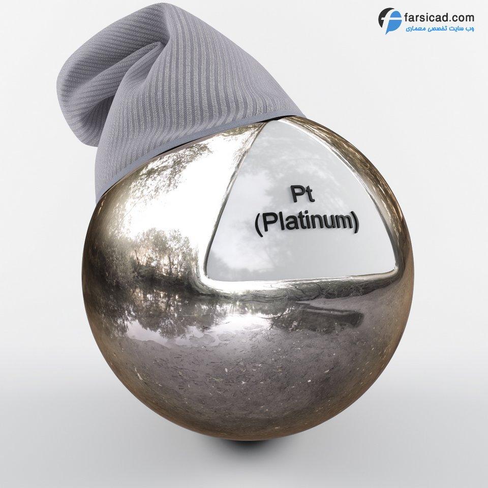 دانلود مجموعه فوق العاده متریال فلزات ( طلا ، نقره ، تیتانیوم ، آهن و ... ) 6