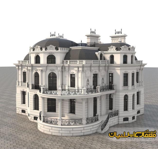 نمای رومی ساختمان - نمای رومی و لندنی - نمای رومی ویلایی - نمای رومی cnc - نمای رومی dwg