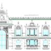 دانلود نقشه نمای رومی اجرایی ( نما رومی آپارتمانی اتوکد ) نمای کلاسیک dwg 4